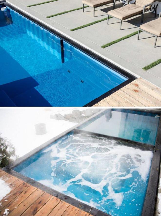 Bể bơi container nhỏ gọn, đẹp tuyệt dành cho nhà có sân vườn nhỏ - Ảnh 2.