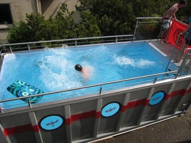 Bể bơi container nhỏ gọn, đẹp tuyệt dành cho nhà có sân vườn nhỏ - Ảnh 5.