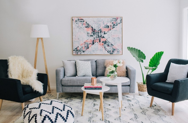 Cách phối gam màu pastel cho phòng khách mang phong cách Scandinavia chuẩn không cần chỉnh - Ảnh 2.