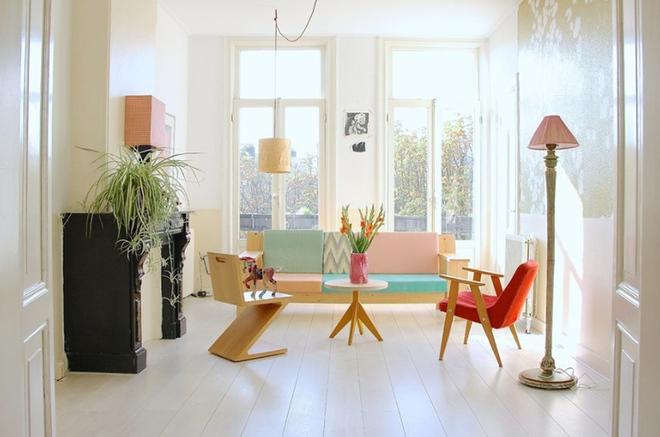 Cách phối gam màu pastel cho phòng khách mang phong cách Scandinavia chuẩn không cần chỉnh - Ảnh 4.