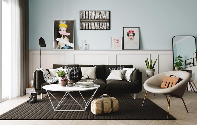 Cách phối gam màu pastel cho phòng khách mang phong cách Scandinavia chuẩn không cần chỉnh - Ảnh 6.