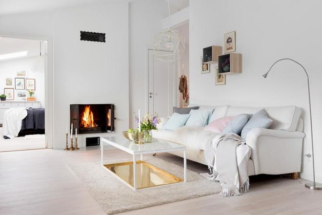 Cách phối gam màu pastel cho phòng khách mang phong cách Scandinavia chuẩn không cần chỉnh - Ảnh 7.