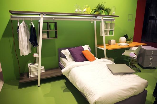 3 cách bố trí nội thất cực hay cho phòng ngủ chật - Ảnh 7.