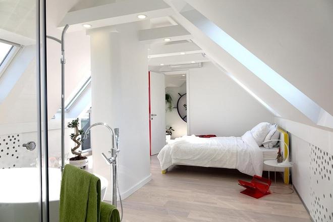 Ngôi nhà trắng tinh với điểm nhấn là các màu đơn sắc nổi bật, tưởng không xinh mà hóa ra lại xinh không tưởng - Ảnh 8.