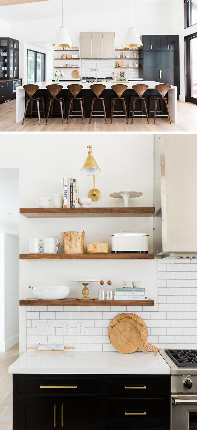19 ví dụ minh chứng rằng một căn bếp hoàn hảo không thể nào thiếu được những chiếc kệ mở - Ảnh 8.