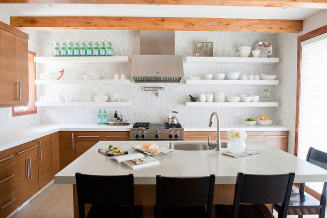 19 ví dụ minh chứng rằng một căn bếp hoàn hảo không thể nào thiếu được những chiếc kệ mở - Ảnh 11.
