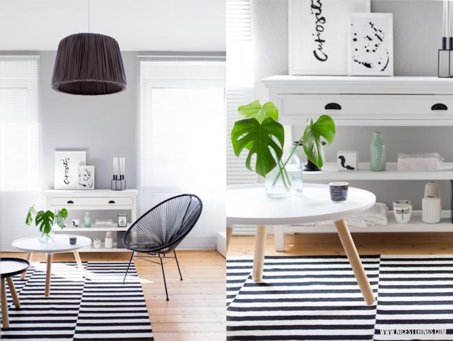 Chỉ với một tấm thảm kẻ sọc đen trắng, phòng khách sẽ vô cùng kỳ diệu thế này - Ảnh 8.
