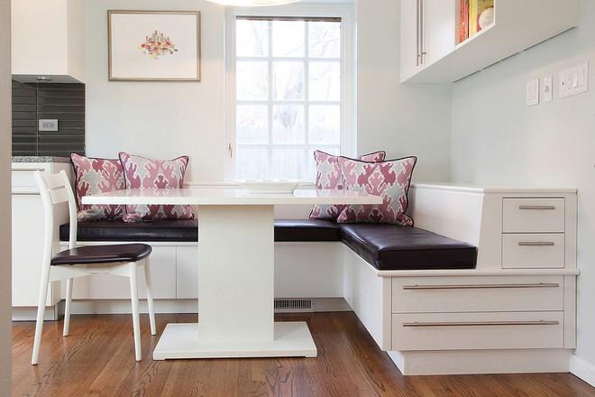 Chỉ cần sắp xếp ghế banquette theo cách này là sẽ có không gian sống tiết kiệm diện tích - Ảnh 9.