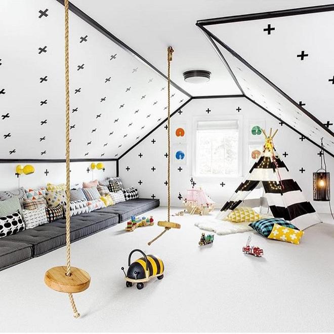 Swing: Ý tưởng thiết kế mà trẻ con hay người lớn đều ao ước được có trong nhà - Ảnh 2.
