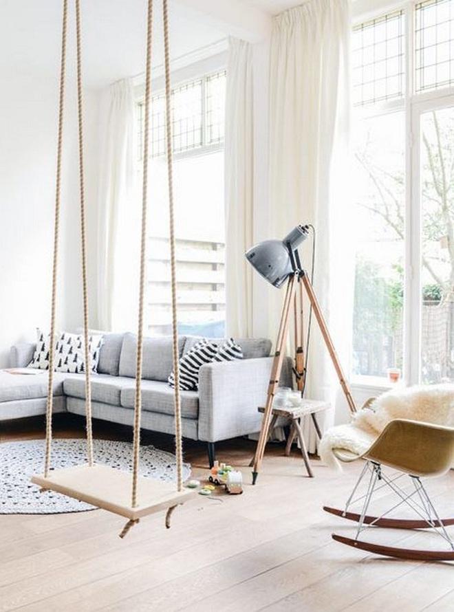 Swing: Ý tưởng thiết kế mà trẻ con hay người lớn đều ao ước được có trong nhà - Ảnh 7.
