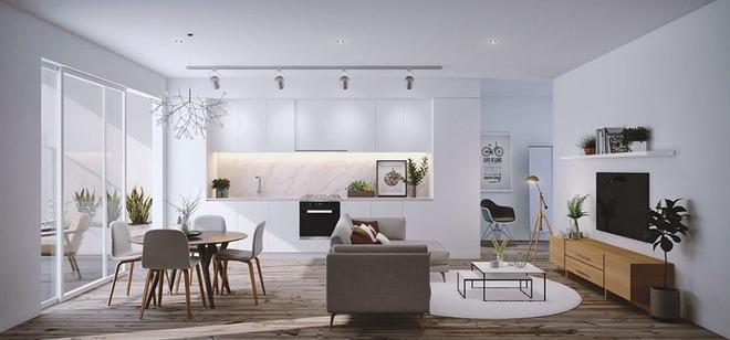 Những mẫu phòng khách liền nhà ăn giúp bạn chẳng cần lo về diện tích - Ảnh 3.