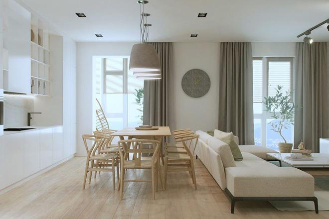 Những mẫu phòng khách liền nhà ăn giúp bạn chẳng cần lo về diện tích - Ảnh 12.