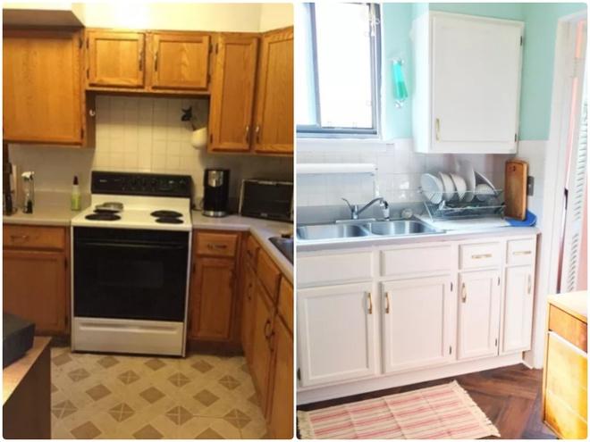 Sự thay đổi ngoạn mục của 14 căn bếp nhỏ sau khi cải tạo - Ảnh 3.