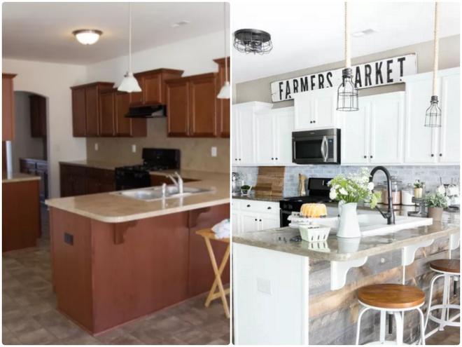 Sự thay đổi ngoạn mục của 14 căn bếp nhỏ sau khi cải tạo - Ảnh 4.