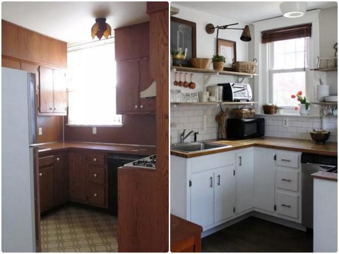 Sự thay đổi ngoạn mục của 14 căn bếp nhỏ sau khi cải tạo - Ảnh 7.