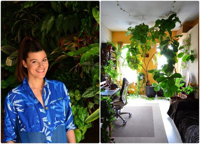 Cô gái độc thân biến căn hộ nhỏ ở chung cư cao tầng của mình thành vườn cây trong phố - ảnh 1