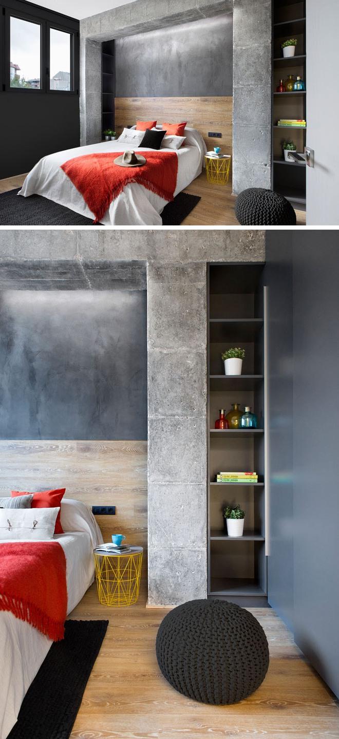 Chiêm ngưỡng căn hộ đầy lôi cuốn nhờ sự kết hợp ấn tượng của bê tông, gỗ, gạch ốp và màu đen - Ảnh 5.