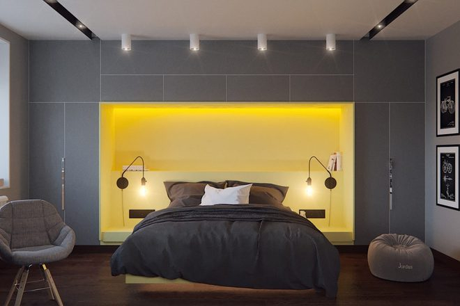 Ngắm những phòng ngủ màu xám nhưng không hề u ám và nhàm chán - Ảnh 9.
