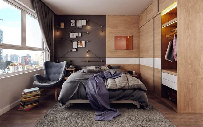 Ngắm những phòng ngủ màu xám nhưng không hề u ám và nhàm chán - Ảnh 12.