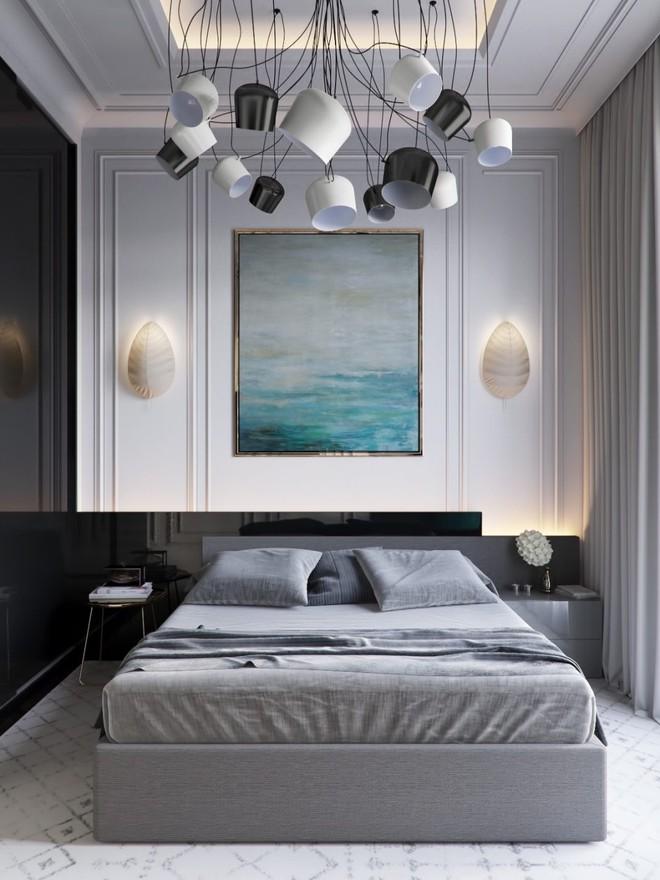 Ngắm những phòng ngủ màu xám nhưng không hề u ám và nhàm chán - Ảnh 13.