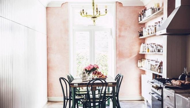 Gợi ý trang trí nhà với gam màu hồng nhạt dịu dàng - Ảnh 1.