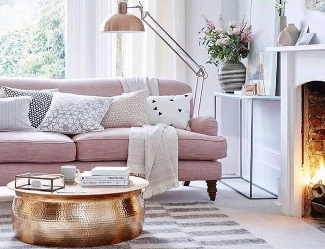 Gợi ý trang trí nhà với gam màu hồng nhạt dịu dàng - Ảnh 2.