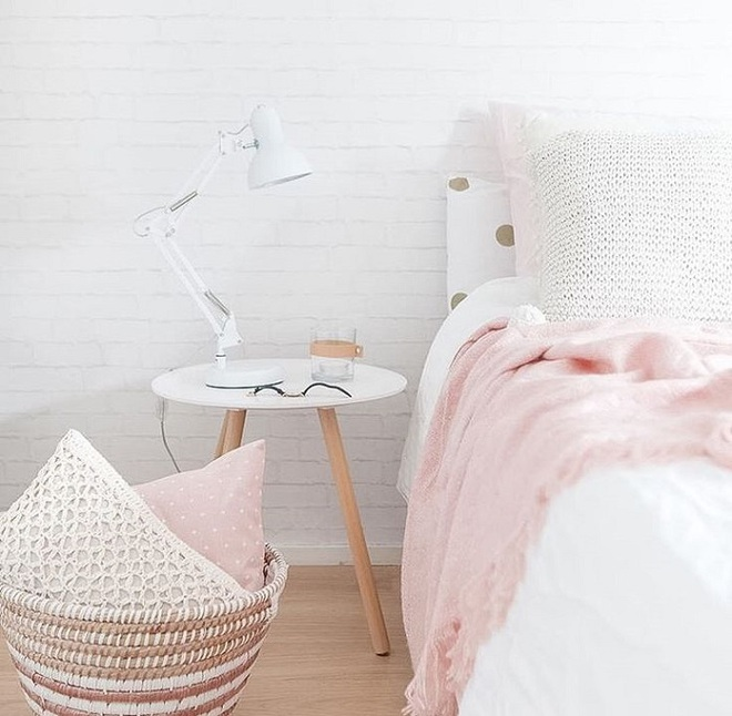 Gợi ý trang trí nhà với gam màu hồng nhạt dịu dàng - Ảnh 4.