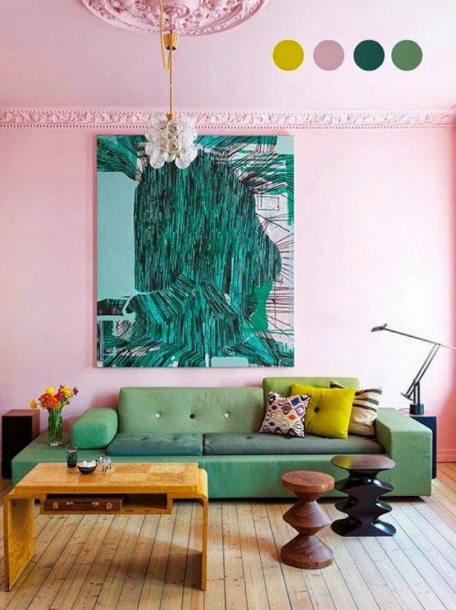 Gợi ý trang trí nhà với gam màu hồng nhạt dịu dàng - Ảnh 6.