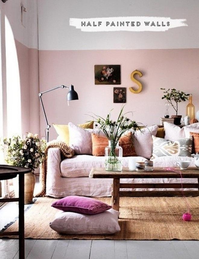 Gợi ý trang trí nhà với gam màu hồng nhạt dịu dàng - Ảnh 7.