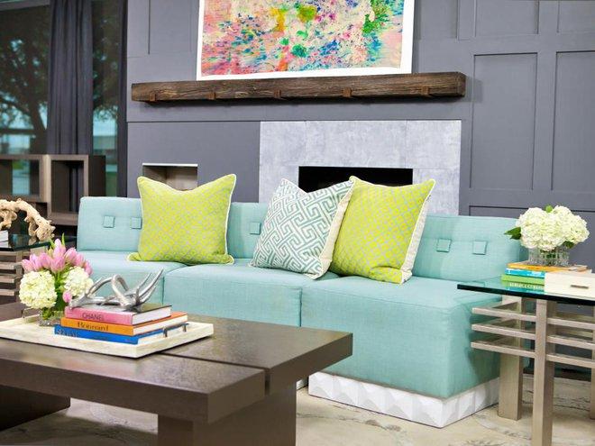 Quá đáng tiếc nếu bạn không học 20 cách kết hợp màu sắc này khi trang trí phòng khách - Ảnh 2.