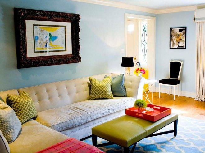 Quá đáng tiếc nếu bạn không học 20 cách kết hợp màu sắc này khi trang trí phòng khách - Ảnh 4.