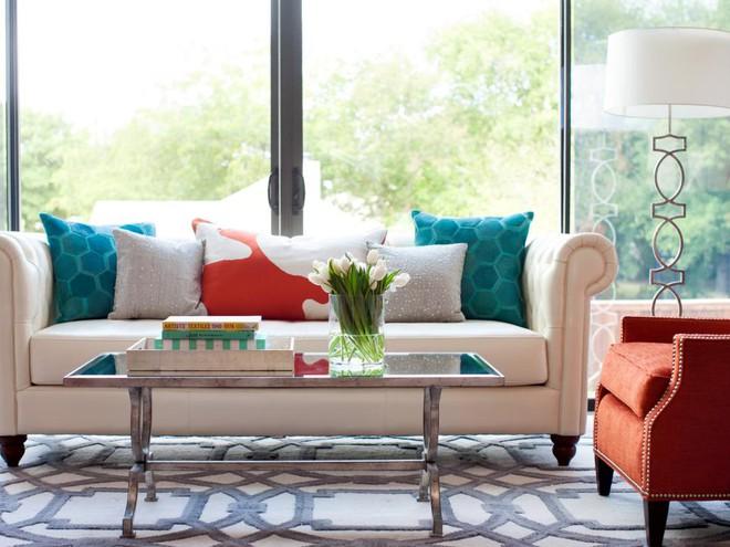 Quá đáng tiếc nếu bạn không học 20 cách kết hợp màu sắc này khi trang trí phòng khách - Ảnh 15.