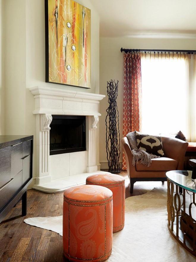 Quá đáng tiếc nếu bạn không học 20 cách kết hợp màu sắc này khi trang trí phòng khách - Ảnh 18.