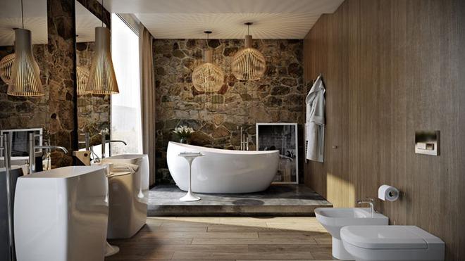Những mẫu bồn tắm đủ sức khiến cả căn phòng tắm bừng sáng - Ảnh 9.