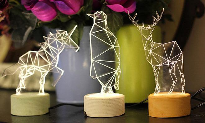 Không gian sống cá tính đến bất ngờ với những mẫu đèn trang trí hình học - Ảnh 5.