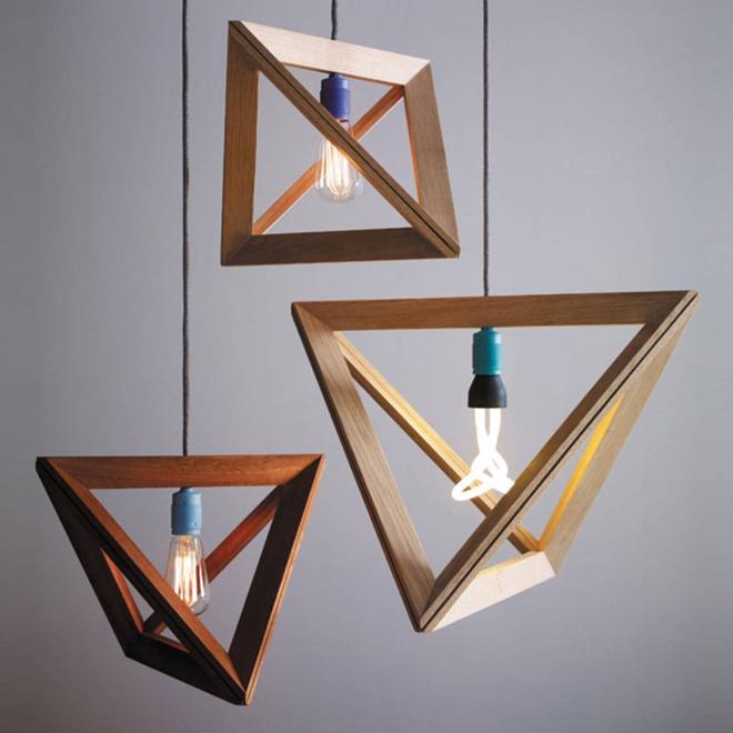 Không gian sống cá tính đến bất ngờ với những mẫu đèn trang trí hình học - Ảnh 6.