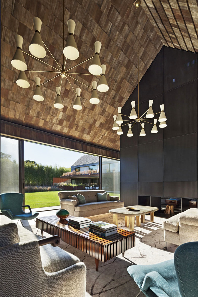 Muốn không gian sống ấm cúng nhớ đừng bỏ lỡ kiểu trần nhà bằng gỗ - Ảnh 4.