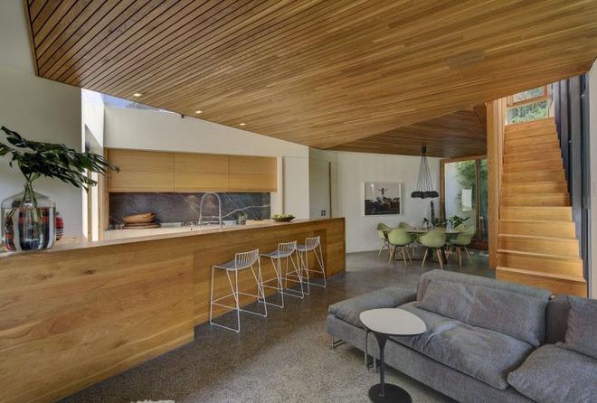 Muốn không gian sống ấm cúng nhớ đừng bỏ lỡ kiểu trần nhà bằng gỗ - Ảnh 10.