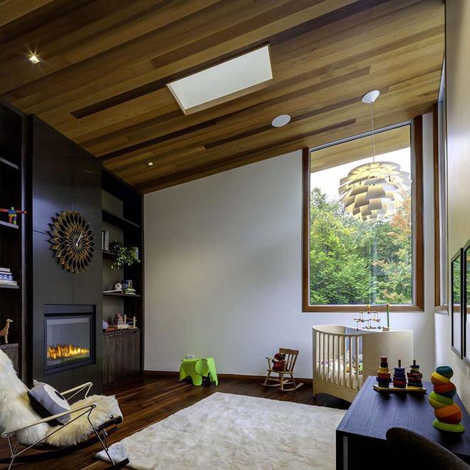 Muốn không gian sống ấm cúng nhớ đừng bỏ lỡ kiểu trần nhà bằng gỗ - Ảnh 12.