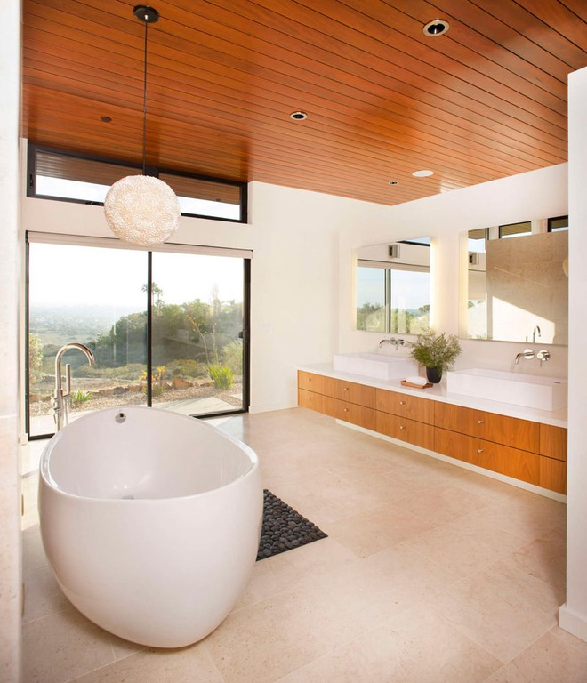 Muốn không gian sống ấm cúng nhớ đừng bỏ lỡ kiểu trần nhà bằng gỗ - Ảnh 13.