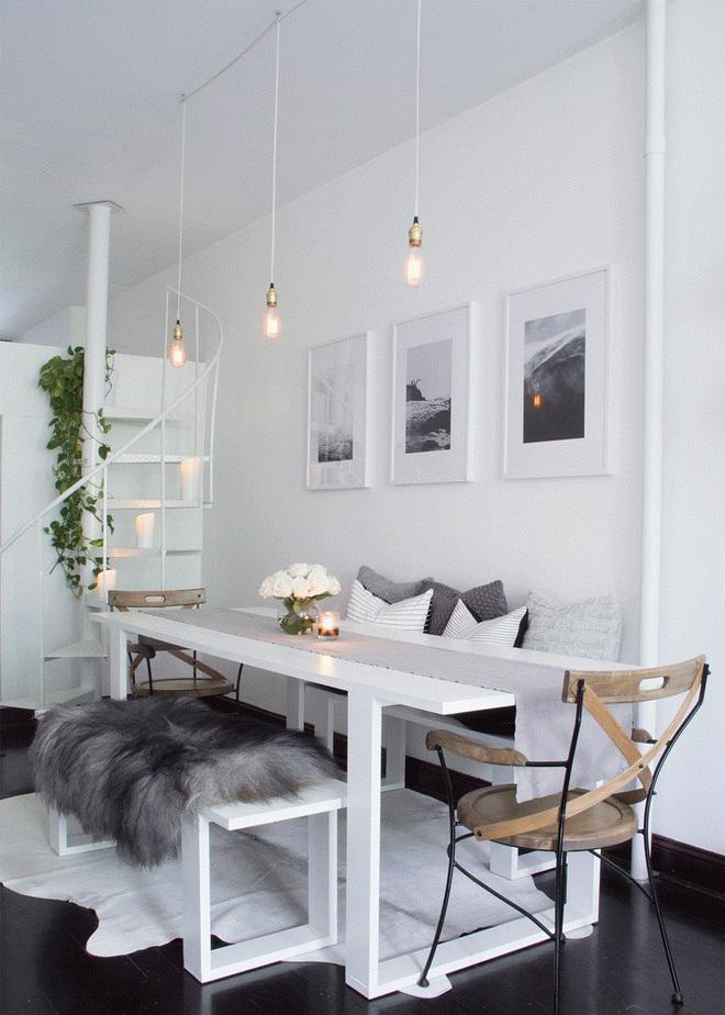 """Nếu bạn đang sở hữu một không gian """"full"""" trắng thì đây chính là ý tưởng trang trí tuyệt vời - Ảnh 7."""