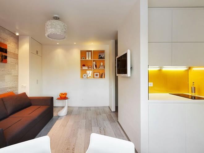 Căn hộ 22m² trang trí theo phong cách tối giản và đầy đủ chức năng cho vợ chồng trẻ - Ảnh 1.