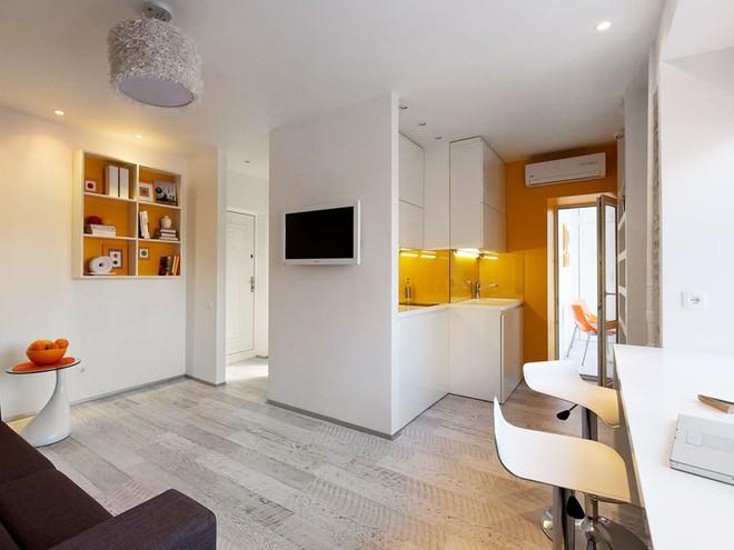 Căn hộ 22m² trang trí theo phong cách tối giản và đầy đủ chức năng cho vợ chồng trẻ - Ảnh 3.