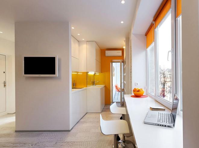 Căn hộ 22m² trang trí theo phong cách tối giản và đầy đủ chức năng cho vợ chồng trẻ - Ảnh 6.