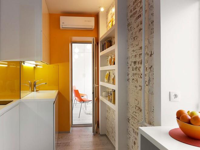 Căn hộ 22m² trang trí theo phong cách tối giản và đầy đủ chức năng cho vợ chồng trẻ - Ảnh 8.