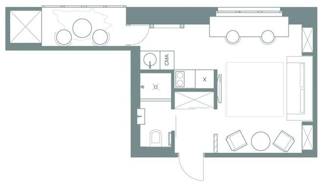 Căn hộ 22m² trang trí theo phong cách tối giản và đầy đủ chức năng cho vợ chồng trẻ - Ảnh 11.