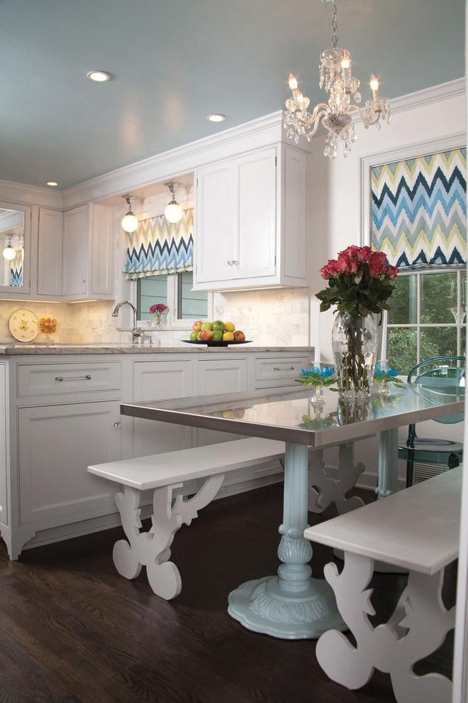 Phòng bếp điệu đà với những mẫu rèm cửa đẹp ngất ngây - Ảnh 6.