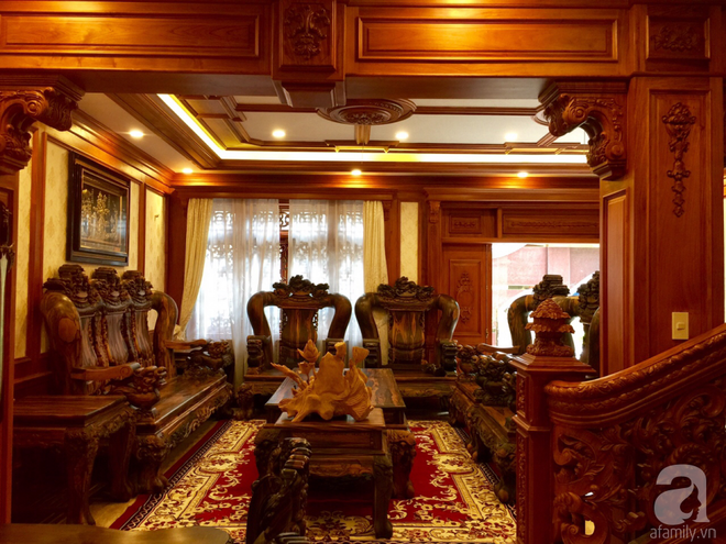Choáng ngợp khi ngắm cận cảnh căn biệt thự toàn gỗ quý siêu sang giá 55 tỷ ở quận Tân Bình, TP.HCM - Ảnh 6.