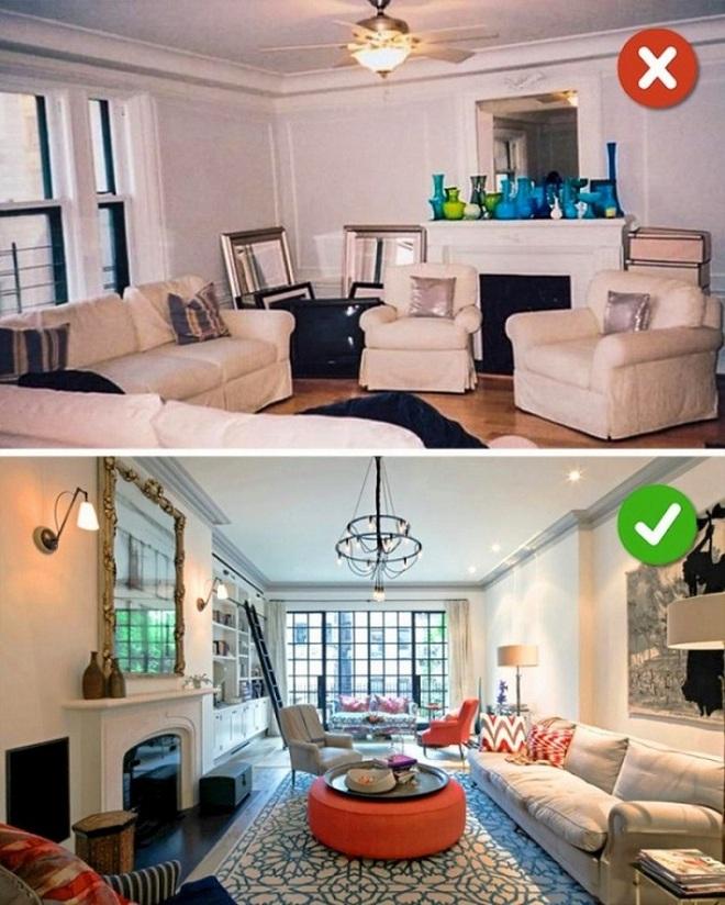 Những sai lầm trong thiết kế phòng khách nếu mắc phải bạn cần thay đổi ngay lập tức - Ảnh 1.