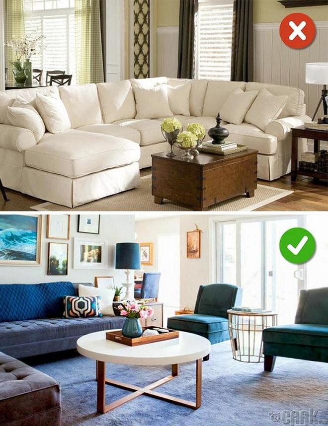 Những sai lầm trong thiết kế phòng khách nếu mắc phải bạn cần thay đổi ngay lập tức - Ảnh 10.